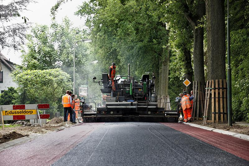 Dusseldorp asfalt machine Diepeveen Marcel de Graaf fotografie