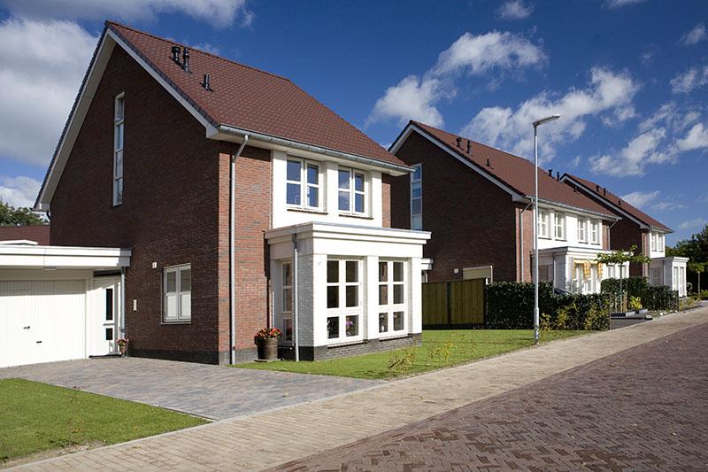 Huizen blauwe lucht BAM Marcel de Graaf fotografie Deventer